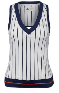 Adidas US Open New York womens striped tank top