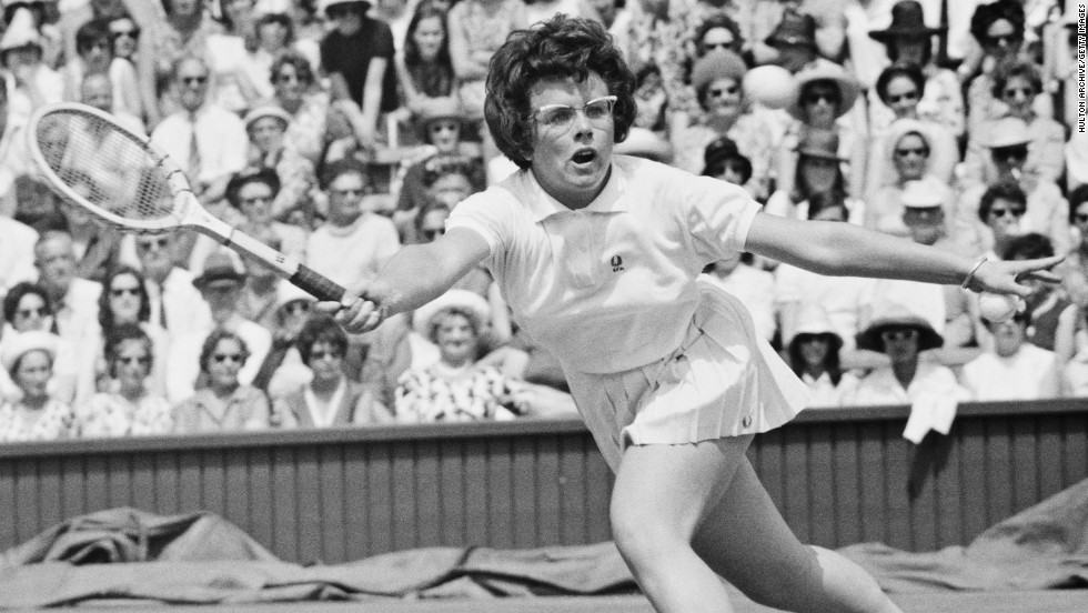women tennis players Billie Jean King
